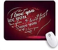 TARTINY ゲーミング マウスパッド,愛の心「愛してる」赤い背景,マウスパッド レーザー&光学マウス対応 マウスパッド おしゃれ ゲームおよびオフィス用 滑り止め 防水 PC ラップトップ