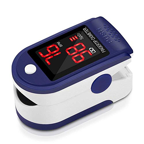 Pulsómetro Digital Oxímetro de Pulso Pulsioxímetro de Dedo con Pantalla LED, Monitor...