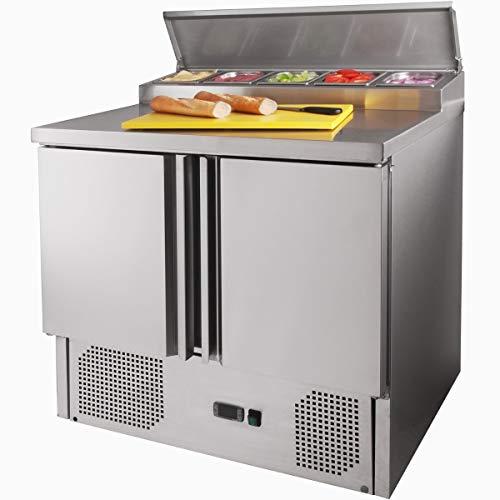 ZORRO - Zubereitungstisch ZPS200-2 Türen - Kühltisch mit GN Einlass - Salatkühlung - Gastro Belegstation