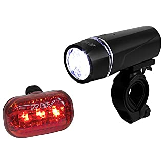 BV Bicycle Light Set Super Bright 5 LED Headlight, 3 LED Taillight, Quick-Release (B00A6TBITM) | Amazon price tracker / tracking, Amazon price history charts, Amazon price watches, Amazon price drop alerts