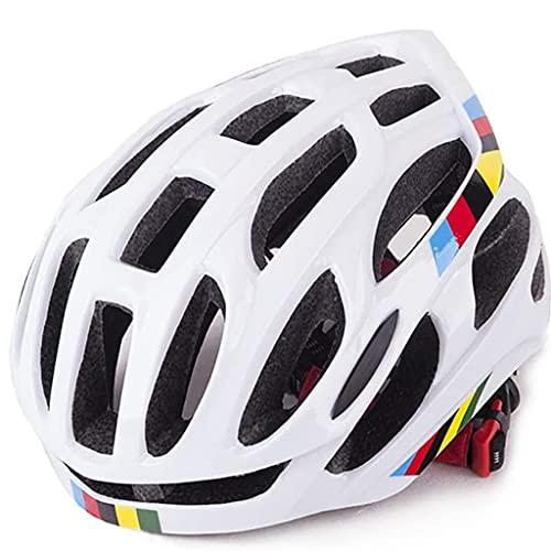 GuoYq Casco Integrato da Bicicletta, Tempo Libero da Città Portatile per Mountain Bike da Strada, Bici da Strada, Casco 4D, Materiale EPS + PC per Uomo e Donna