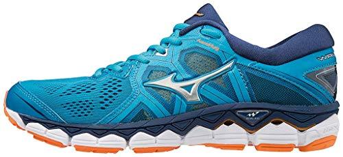 Mizuno Damen Wave Sky 2 Sneakers, Mehrfarbig (Hocean/Silver/Bparad 001), 38 EU
