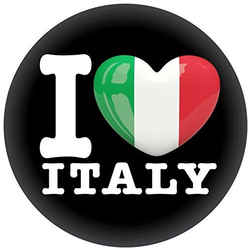 FanShirts4u Button/Badge/Pin - I Love ITALIEN Fahne Flagge ITALIA ITALY (I Love Italy)