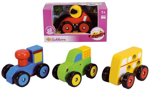 Eichhorn - Jouet en bois toddler vehicles sorted