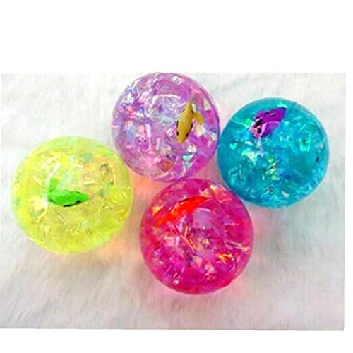 6.5cm colorido hinchable bola de plástico al aire libre de deportes del juguete Juegos elástico de la bola que hace juegos malabares con la cuerda de juguete luminoso de la novedad Juguetes