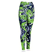 Officially licensed product of the National Football League Support your favorite team in these form-fitting women's leggings featuring a team color swirl print with a high quality, sublimated logo on the top right hip. Show your spirit on gameday we...