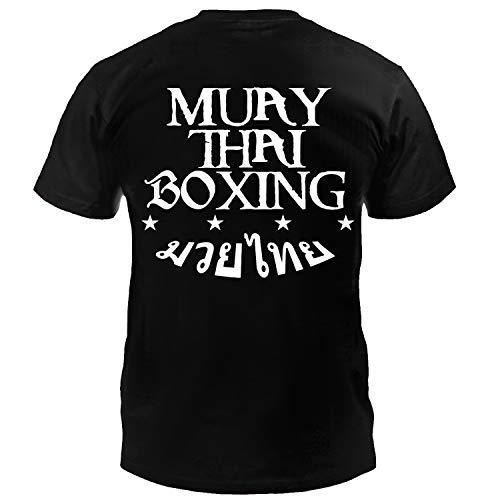 Dynamix Athletics T-Shirt Muay Thai Boxing Schwarz - Thaiboxen Kampfsport Shirt für Herren (S)
