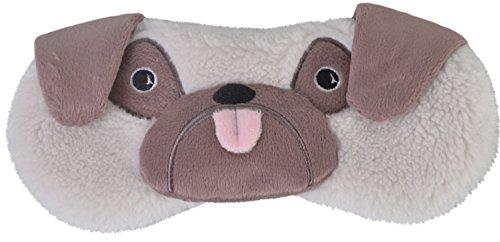 Cute Animal Fluffy Novelty Sleep, Eye Mask, Blindfold with 3D Ears, Pug