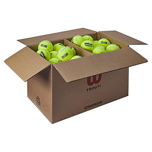 Wilson Tennisballen Triniti, 72 ballen, karton 100% recyclebaar, geel, WR8201501