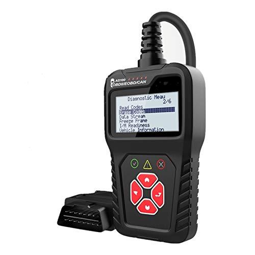 ETXP Automotor AS100 Herramienta de diagnóstico de automóvil Lector de códigos multilingües OBD 2 Escáner Automotriz OBD2 Escáner OBD2 Herramienta de escaneo de diagnóstico del vehículo