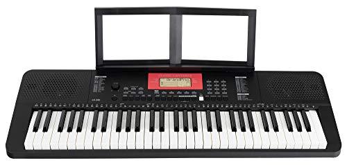 Classic Cantabile LK-290 Leuchttasten-Keyboard - 61 Tasten mit Anschlagdynamik - 580 Klänge und 200 Begleitrhythmen - Anschlüsse für Kopfhörer, Sustain-Pedal und MP3-Player - schwarz