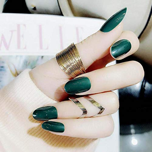 CLOAAE Fashion Pure Color Nail Art Tips with Women Short Size Design Artificial Nails Ladies Sexy Simple Color Polish False Nail