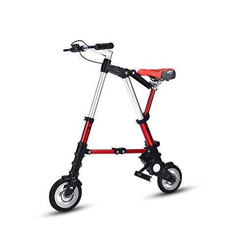 LCLLXB Freestyle Bicicleta de montaña plegable bicicleta de acero al carbono para hombres y mujeres adultos, D