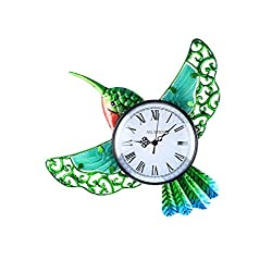 MUMTOP Indoor Outdoor Wall Clock Hummingbird Waterproof Wall-Mounted Clock Exquisite Decoration Does
