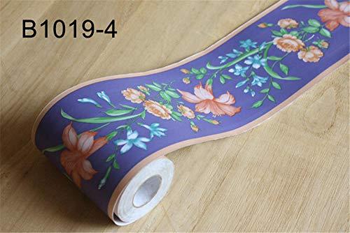Tapeten Bordüre Selbstklebend Blaue Petunie Sockelleiste Wandaufkleber Wasserdicht Taille Linie Aufkleber PVC Rand Wandaufkleber Wohnzimmer Dekor