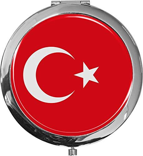 Miroir de poche/Drapeau la Turquie/Double agrandissement