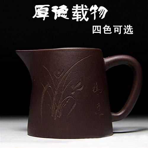 Teekannen Yixing Zisha Gongdao Cup Raw-Mine Clearing Cement Thick Depot 260ml Vier Farben Optional Teekanne Porzellan (Color : Black)