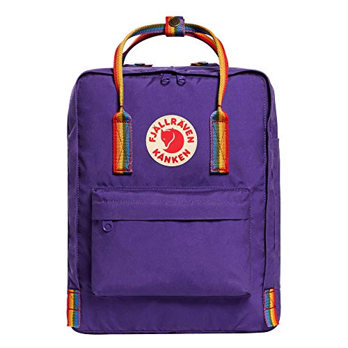 Fjallraven - Kanken Classic Backpack for Everyday, Purple/Rainbow Pattern