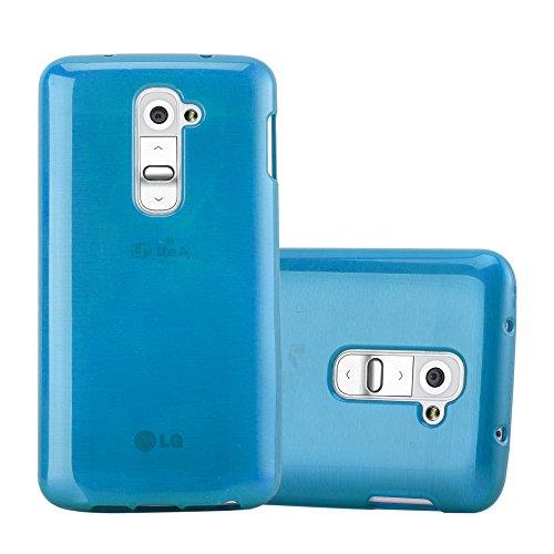 Cadorabo Hülle für LG G2 Mini - Hülle in TÜRKIS – Handyhülle aus TPU Silikon in gebürsteter Edelstahloptik (Brushed) Silikonhülle Schutzhülle Soft Back Cover Hülle Bumper