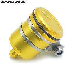 Universal Motorcycle Accessories Brake Fluid Reservoir Clutch Tank Oil Cup For Suzuki Gsx R 600 Gsx R 750 Sv 650 For Yamaha Xjr 1300 (Gold)