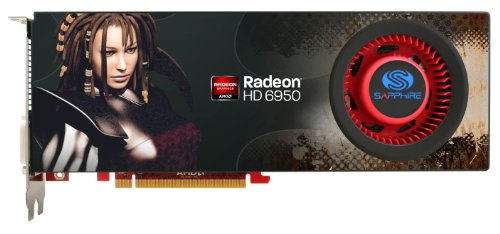Sapphire Radeon HD 6950 2 GB DDR5 DL-DVI-I/SL-DVI-D/HDMI/Dual Mini DP PCI-Express Graphics Card 100312SR