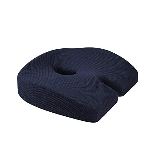 AFAGC Cushion - Orthopedic Memory Foam Support Cushion for Sciatica, Hip Pain - Pressure Relief on The Back And Coccyx in Your Car Seat, Office Chair Or Wheelchair (2 Packs),A