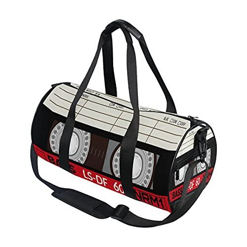 Bolsa de viaje de audio casete de música bolsa de deporte gimnasio bolsa de equipaje para hombres y mujeres