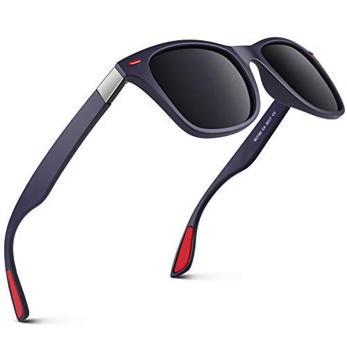 GQUEEN TR90 Herren Polarisierte Sonnenbrille Rechteck Leichtgewicht 100% Uv Schutz MO90