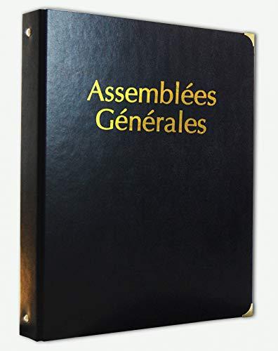 Classeur Registre Assemblées Générales simili cuir avec Recharge 100 feuillets foliotés - 1