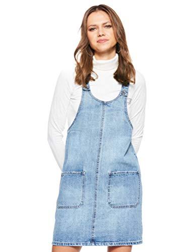 VERO MODA Damen VMKALI PINAFORT Dress GU328 Kleid, Blau (Medium Blue Denim Medium Blue Denim), (Herstellergröße: M)