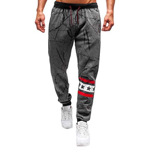manadlian Homme Pantalons de Sport Survêtement pour Hommes Mode Sweatpants Imprimé Pantalon de Jogging Sportif Pantalon Coupe Slim Pantalons Décontractés Jean Droit Homme Pants
