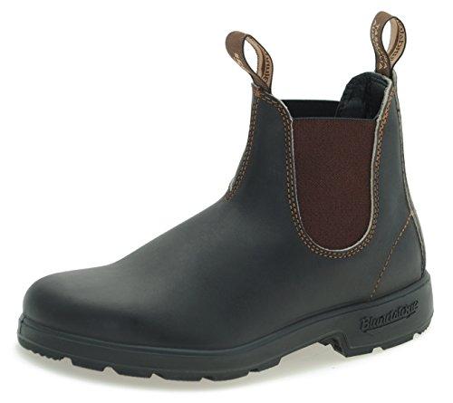Blundstone Style 500 Classic Chelsea Boots UNISEX Stiefelette - Stout Brown + Lederwax (UK 08.0 / EU 42.0)