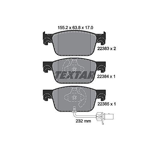 Textar 2238301 - Kit pastiglie freno a disco