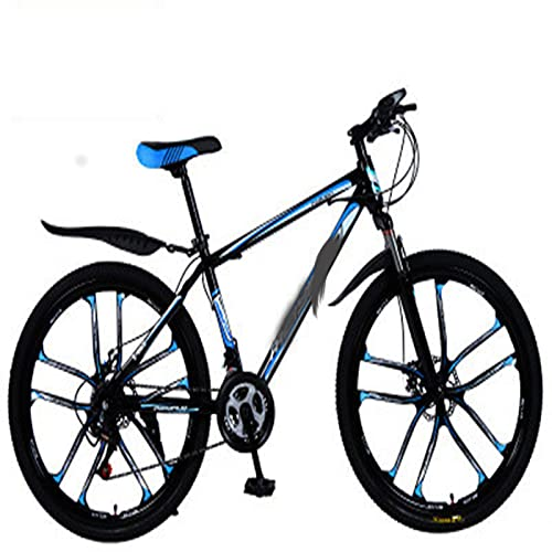 WXXMZY Lightweight 24-speed, 27-speed Mountain Bikes, Strong Aluminum Frame, Cross-country Bikes, Carbon Fiber Male And Female Variable Speed Bikes (Color : D, Inches : 26 inches)