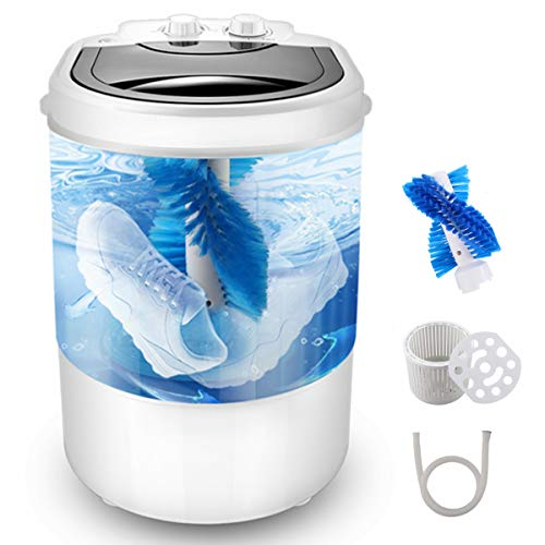 Upgrade Portable Mini Washing Machine,Three functions of shoes washing machine Clothes washing machine Spin Dryer, 9.9 lbs Capacity,Ideal Mini Washing Machine For Dorms Apartments RV Camping Compact Laundry.
