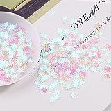 1200 Uds blanco 5mm copos de nieve lentejuelas sueltas regalo de Navidad lentejuelas brillantes para manicura de uñas / confeti de decoración de boda