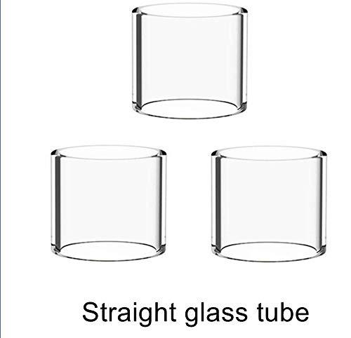 Denghui-ec En Forma Clara 3PCS for WOTOFO Flujo depósito secundario Reemplazo del Tubo de Vidrio Normal Versión/Grasa (Color : Straight Glass)