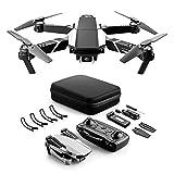 Dron con Cámara 4K HD Avión WiFi FPV Modo sin Cabeza Foto Gestual Regreso con un Solo Botón 360 Flip 30 Minutos de Tiempo de Vuelo (2 Baterías) Cuadricóptero Plegable para Principiantes,Negro