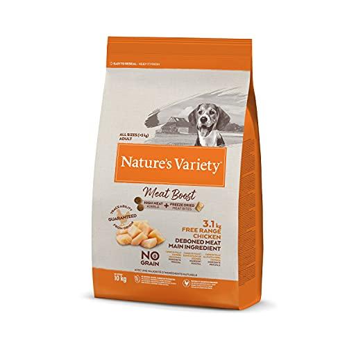 Nature's Variety Selected Meat Boost - Pienso para Perros Adultos con Pollo campero Deshuesado, 10 kg
