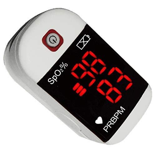 Pulsioxímetro digital de dedo para adulto, oxímetro de pulso, portátil, tipo pinza, porcentaje de saturación de oxígeno en sangre (SpO2), PR y la barra de pulso