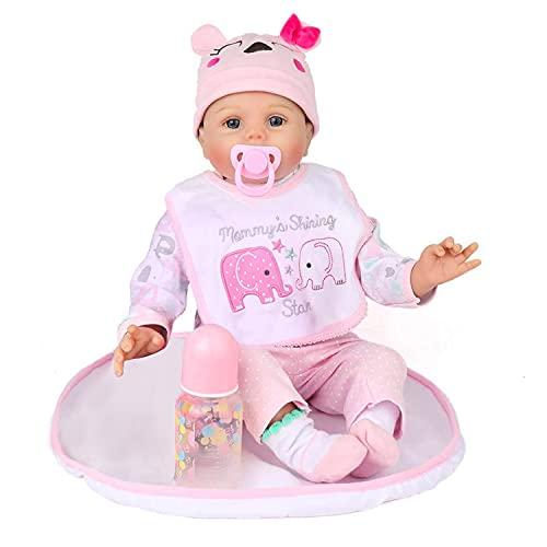 Kaydora Reborn Baby Doll Girl, 22 inch Soft Weighted Body, Cute Lifelike Handmade Silicone Doll