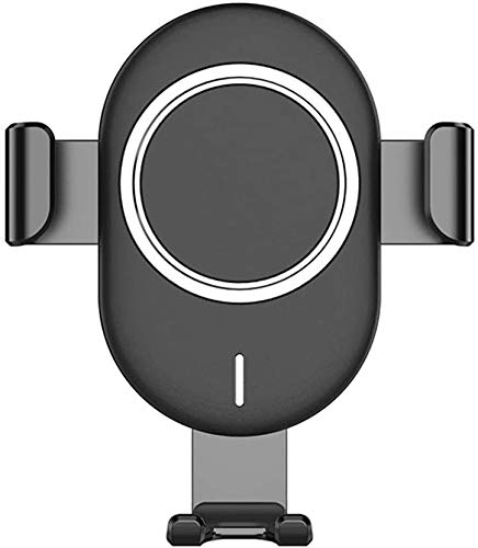 OH Cargador de Teléfono de Montaje de Ventilación de Aire 10W Qi Cargador de Automóvil Inalámbrico con Inducción Electromagnética Adecuada para Iphone Xs Max X 8 Car Cargador Inalám