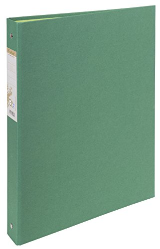 Exacompta 51983E Ringbuch (Recycling-Karton, 4 Ringe, Rücken 40mm, DIN A4) 1 Stück dunkelgrün
