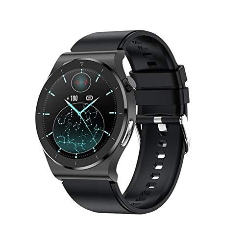 Gymqian E20 Smart Watch Ecg Sports Fitness Pulsera Monitor de Frecuencia Cardíaca Portátil Ip68 Impermeable Smartwatch 2021 Pk S11, C Exquisito/B