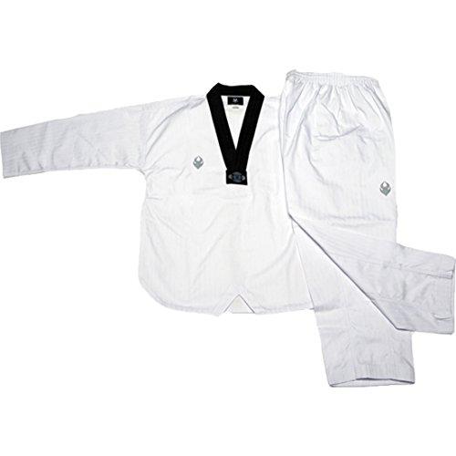 SANGA Corea del Taekwondo Uniforme Uniforme Dan dobok poomsae y Entrenamiento para Hombre 170 (165-175cm Altura) (5.41-5.74ft) Blanco