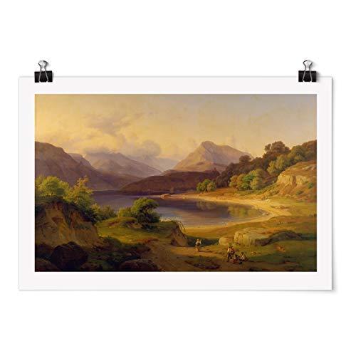 Bilderwelten Poster - Louis Gurlitt - The Northern Part of Lake Garda - Brillant 80 x 120cm