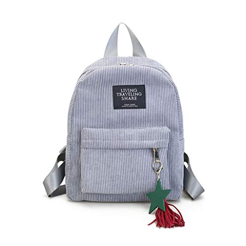 Zhenxinganghu Mochila de viaje con borlas, mochila escolar informal para adolescentes