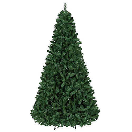 YAHEETECH 7.5ft Premium Spruce Hinged Artificial Full Christmas Tree with 1346 Branch Tips Holiday Xmas Tree with Metal Hinges and Foldable Base for Home Party Office Decoration