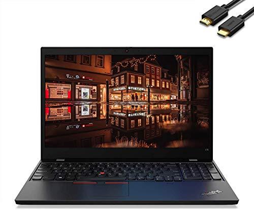 "Lenovo ThinkPad L15 15.6"" FHD (1920 x 1080) Business Laptop (Intel Quad-Core i5-10210U(Beat i7-8565U), 16GB DDR4 RAM, 256GB SSD) Wi-Fi 6, Type-C, Webcam, Windows 10 Pro + IST Computers HDMI Cable"