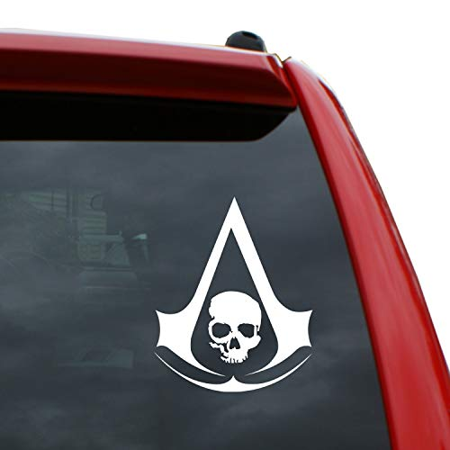 Assassin's Creed - Black Flag Logo Vinyl Decal Sticker | Color: White | 5' Tall